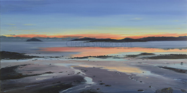 Reflections at Sundown, Rockcliffe - 80 x 40cm - Oil - 2020