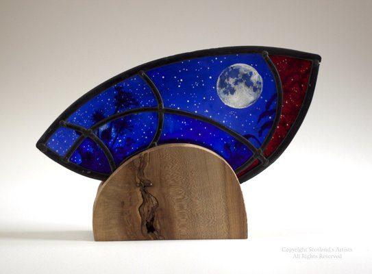 Moon Flower - 2015 - Stained Glass - 38cm x 24cm x 5cm