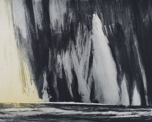 Varanger Fjord  - Etching and Sugar Lift - 2014 - 15 x 25 ins