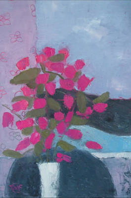 Bougenvillia - Oil on Board - 8 x 6 ins