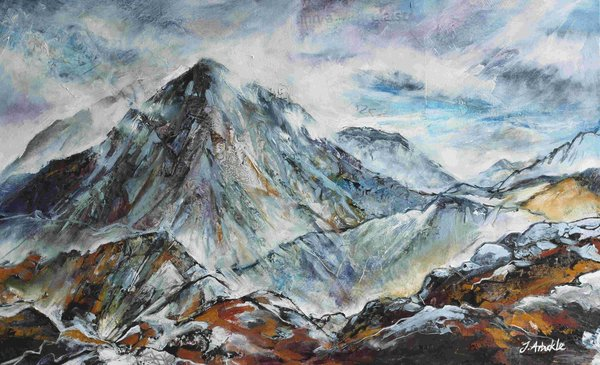 Entering Glencoe - Oil and Paper on canvas - 2015 - 50 x 81cm