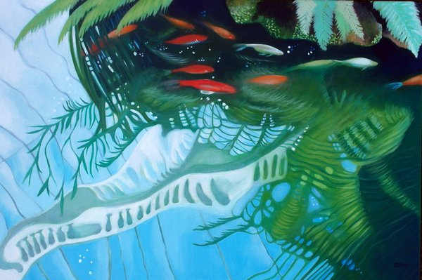 Shoal - 20ins x 30ins - Oil on Canvas